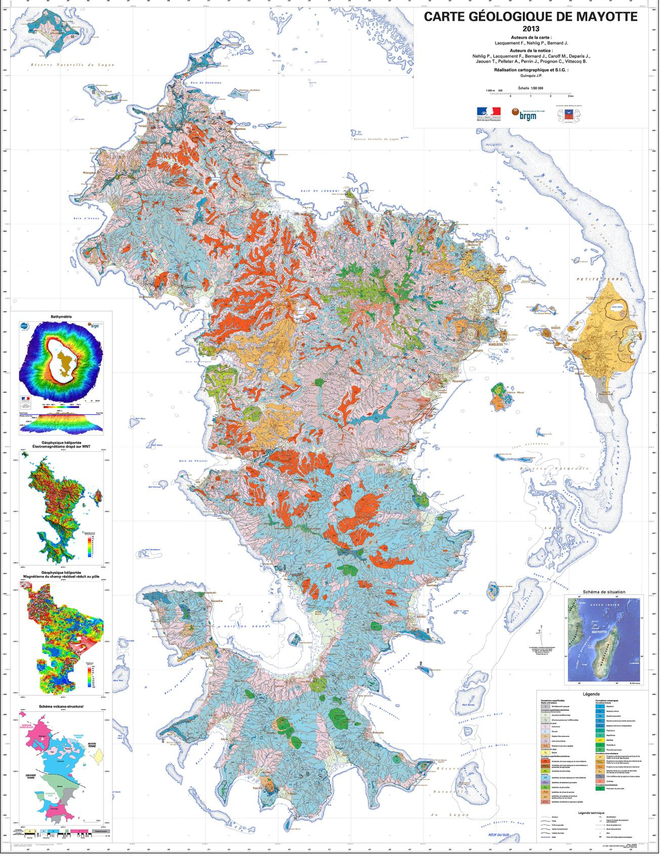 Geological map of Mayotte