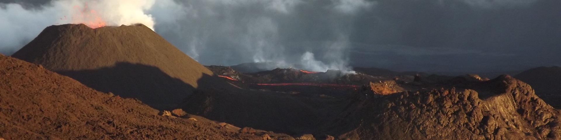 Eruption volcanique, La Réunion