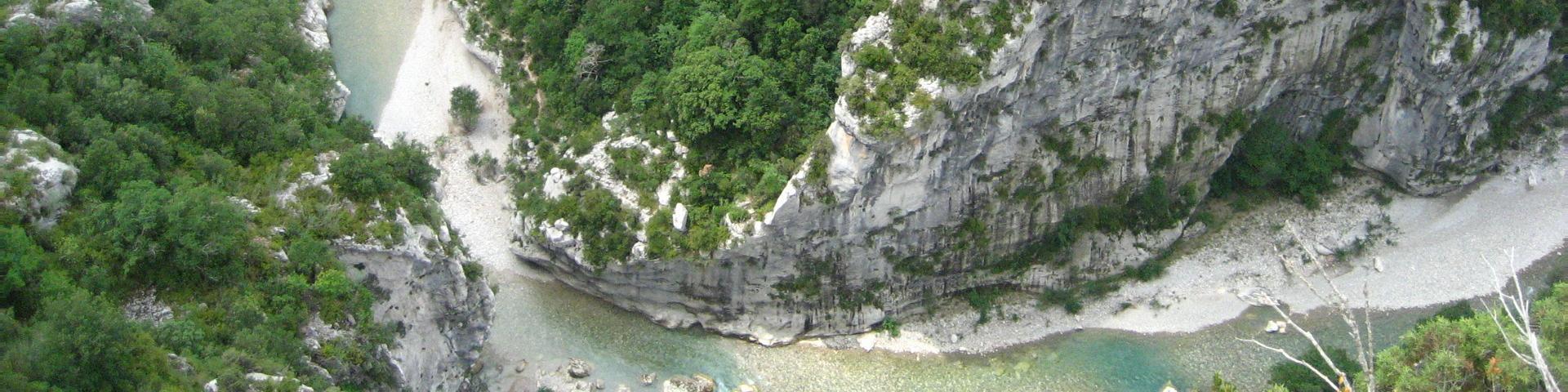Vue des gorges du Verdon, France