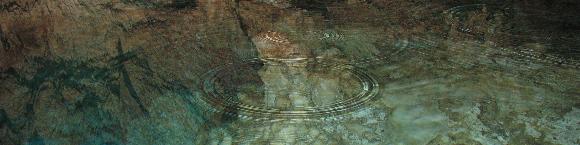 Vue d'un aquifère karstique, République Dominicaine