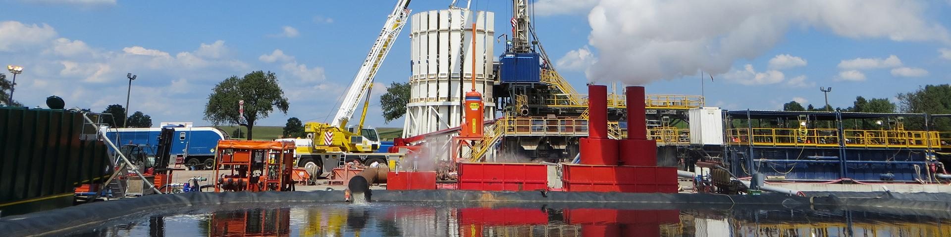 Deep geothermal drilling site, Alsace