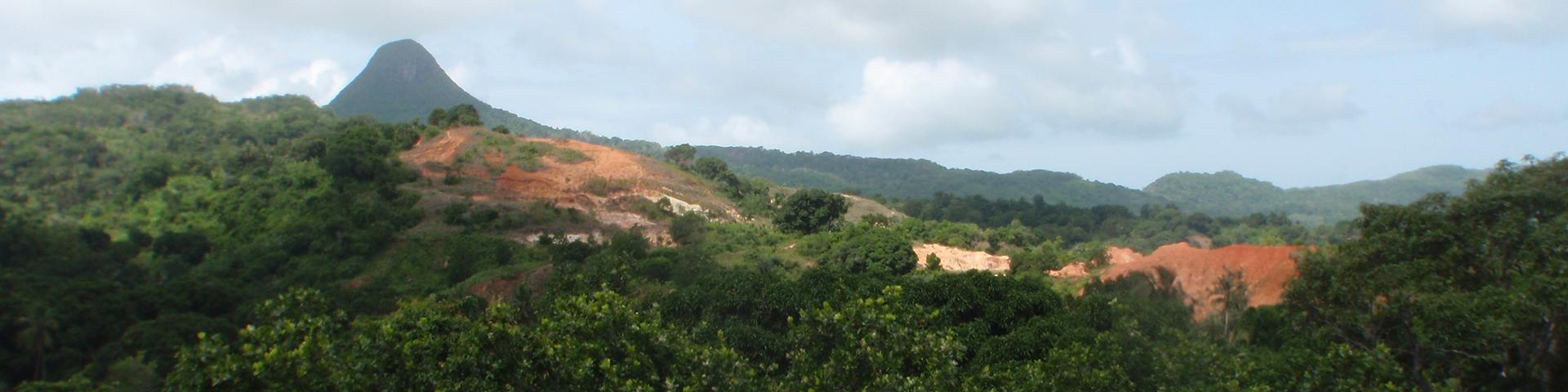 A former artisanal clay quarry, Mayotte