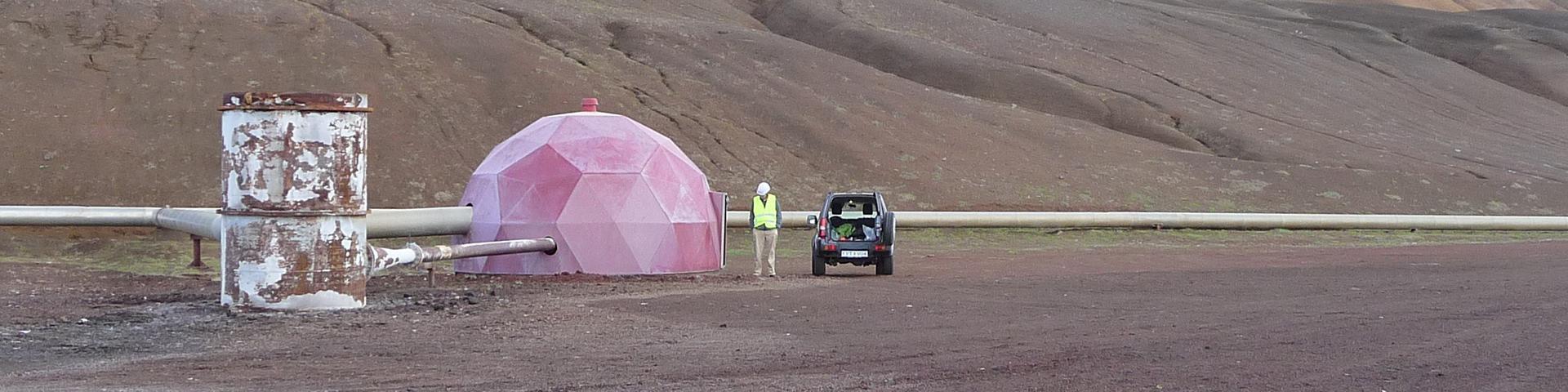 Tête de forage géothermal, Islande