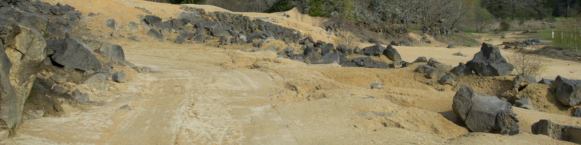 A former dump of mine tailings, Puy-de-Dôme