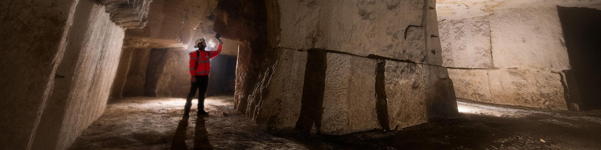 3D scanning in a former underground quarry, Aisne
