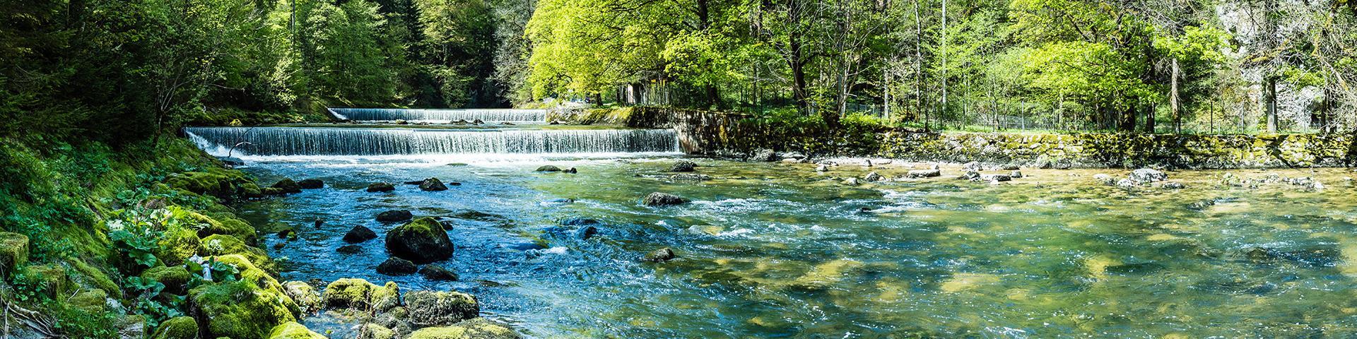L'Areuse, rivière en Suisse