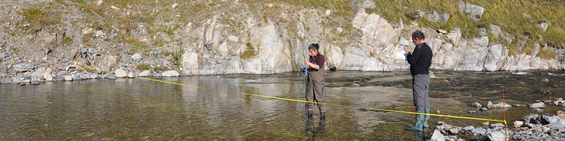 Mesure de débit de rivière à l'étiage 2015, Cauterets