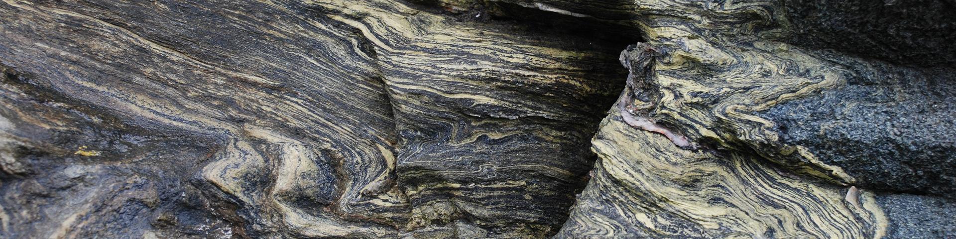 Folded shale, Morbihan