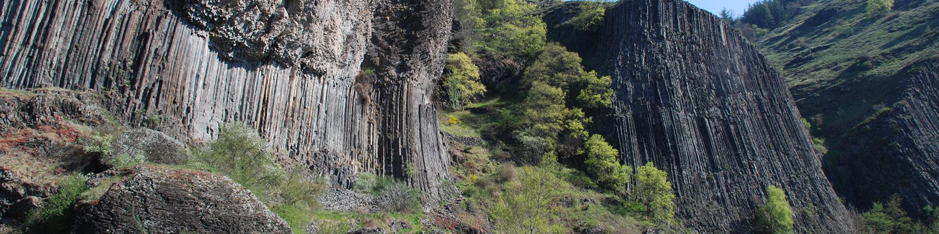 Volcanic 'organ pipes' of Prades, Haute-Loire