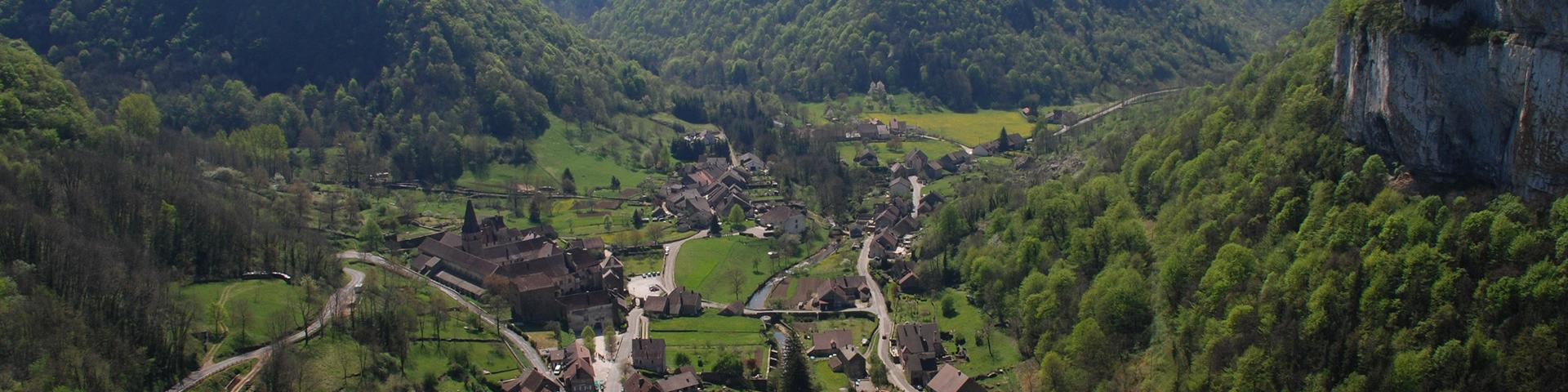 The village of Baume-les-Messieurs, Jura