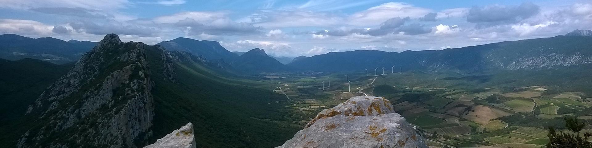Eoliennes en Fenouillèdes, Pyrénées-Orientales