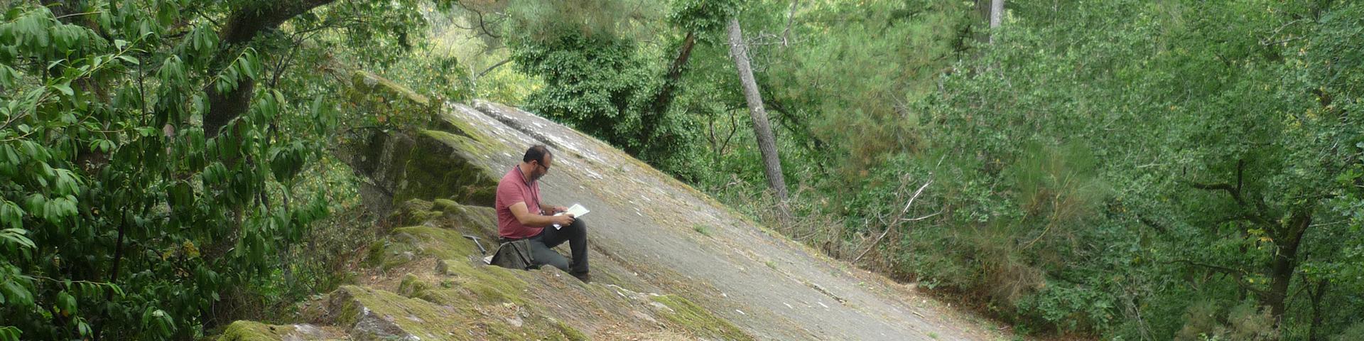 Campagne de levé géologique en forêt de Paimpont, Morbihan