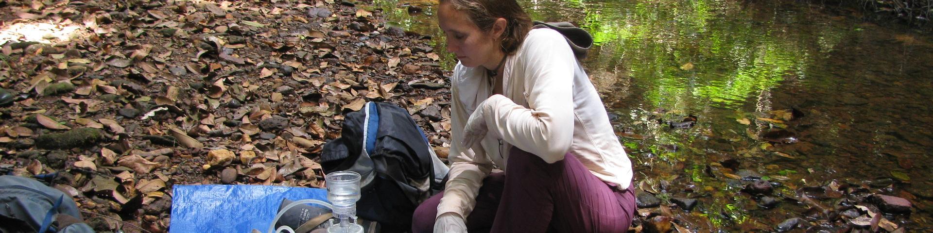Echantillonnage des eaux de rivière, Guyane