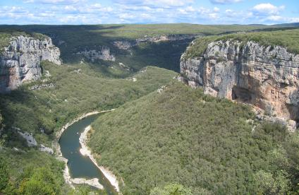 The Ardèche Gorges between Vallon-Pont-D'arc and Pont-Saint-Esprit