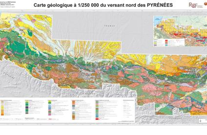 Geological map of the French Pyrenees