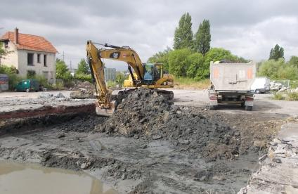 Rehabilitation work on a brownfield site