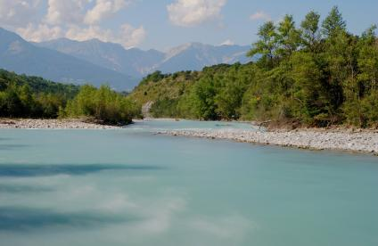 The Durance river, Hautes-Alpes