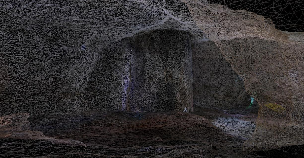 3D model of an underground quarry in Orléans