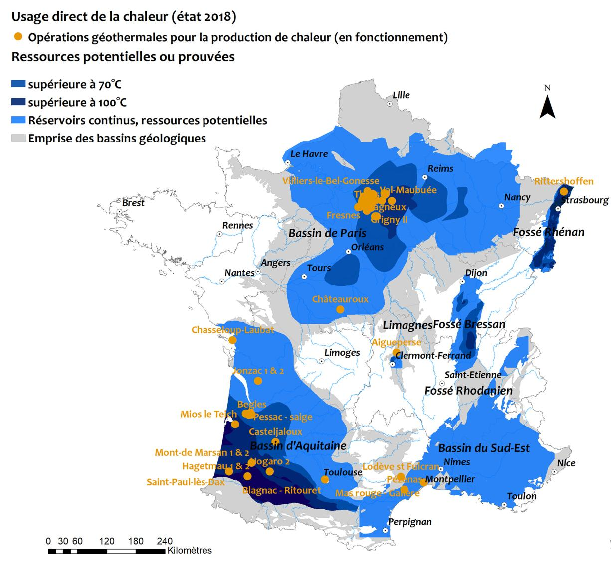 Mapping deep low-enthalpy geothermal operations in metropolitan France