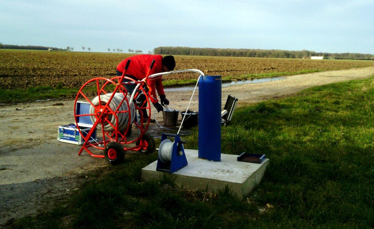 Groundwater sampling in a new structure