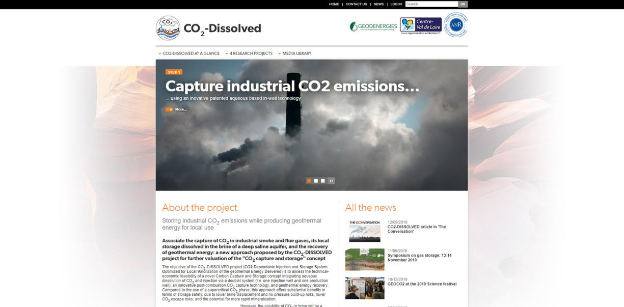 Page d'accueil CO2-DISSOLVED
