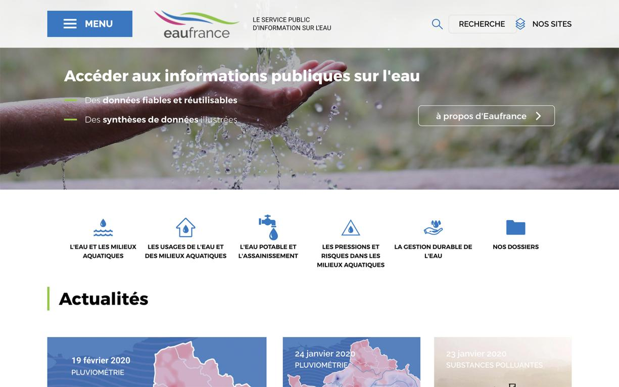 EauFrance home page