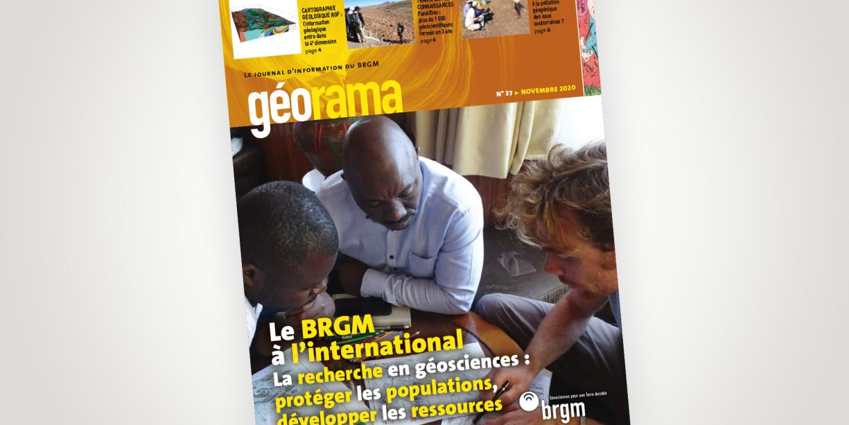 Cover of issue 37 of the Georama newsletter